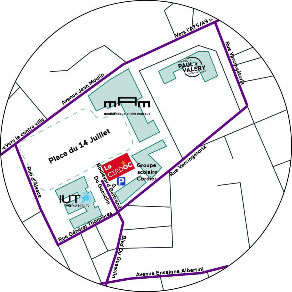 Plan d'accès au CIRDOC