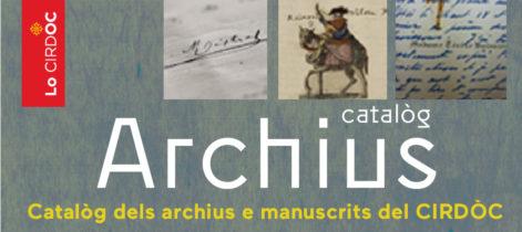 Catalòg dels archius e manuscrits del CIRDÒC