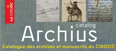 Catalogue des archives et manuscrits du CIRDOC