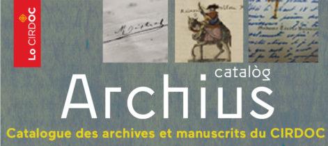 Catalogue des archives et manuscrits du CIRDOC