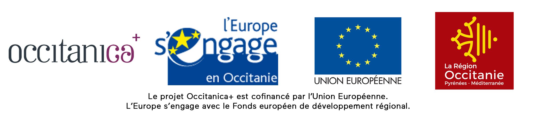 logos occitanica europe s'engage union europenne région occitanie