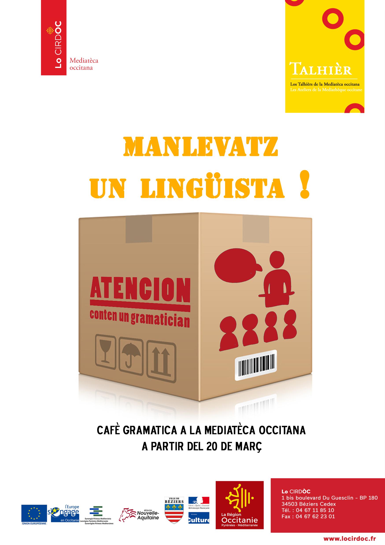 Cafè Gramatica : la Médiathèque occitane vous permet d'emprunter un linguiste
