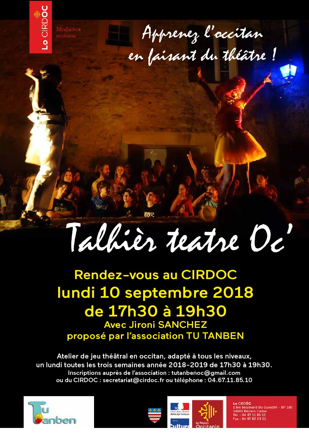 Talhièr teatre Oc' : apprenez l'occitan en faisant du théâtre !